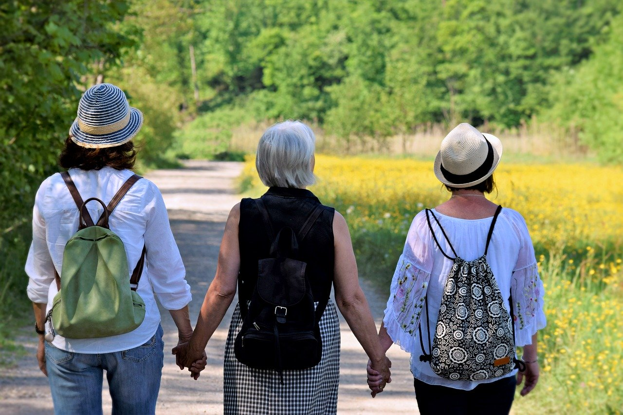 Trois femmes en balade
